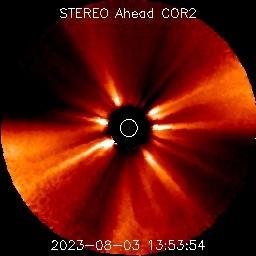 Планети, видими на последната STEREO Ahead COR2 снимка